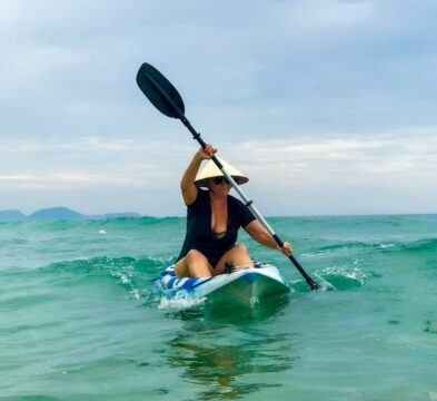 Fun things to do in Vietnam - sea kayaking near Nha Trang
