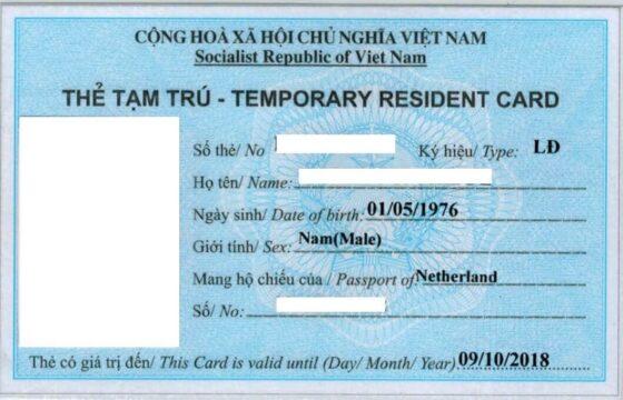 Temporary Residence Card Vietnam