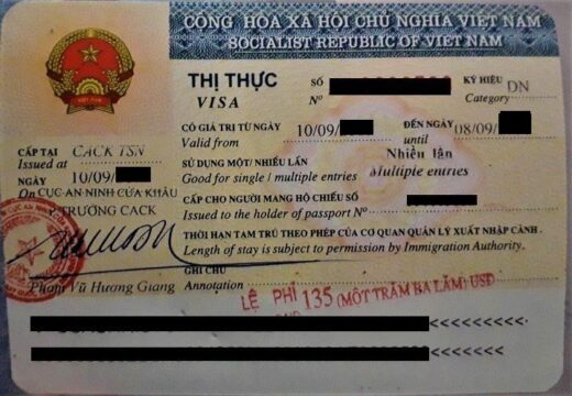 types of visas in Vietnam