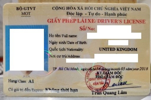 Driving in Vietnam - How To Convert a Driving License In Vietnam (1)